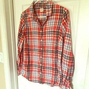 J.Crew plaid flannel perfect shirt. /S/